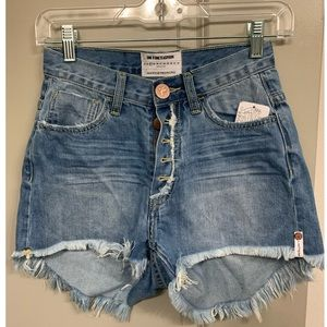One Teaspoon cut-off high waisted shorts
